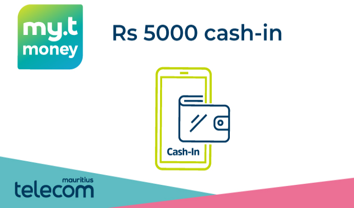 Rs 5000 my.t money cash-in